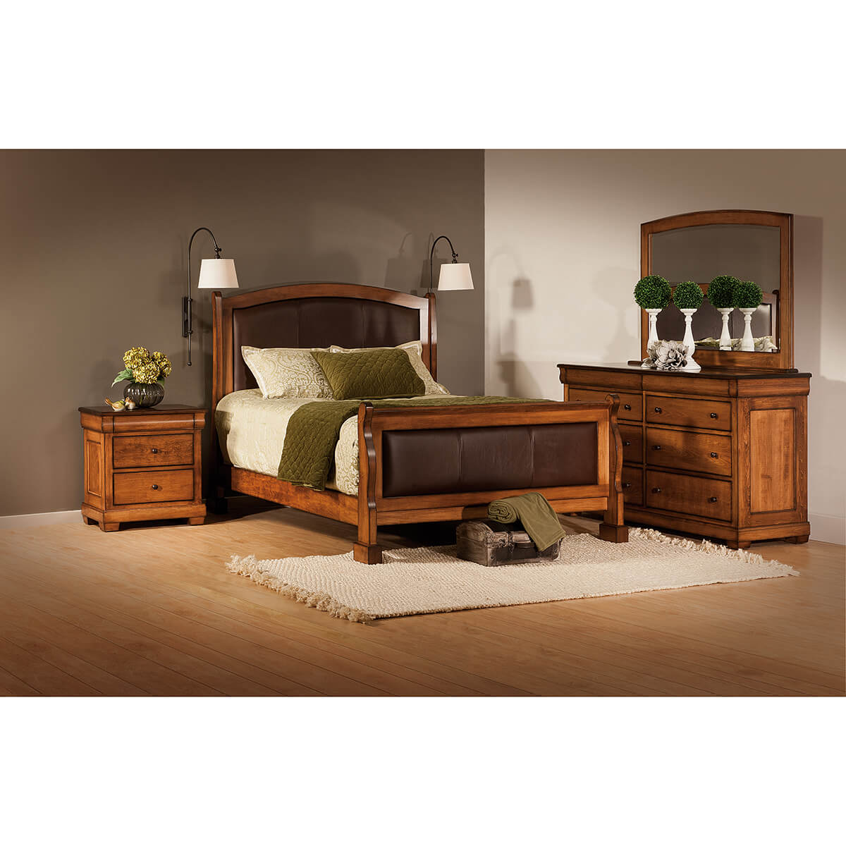 Marshfield Leather Panel Bedroom Collection