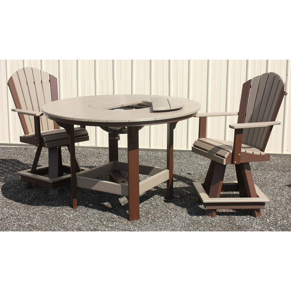54 Inch Round Counter Table with 20 Inch Swivel Counter Chairs